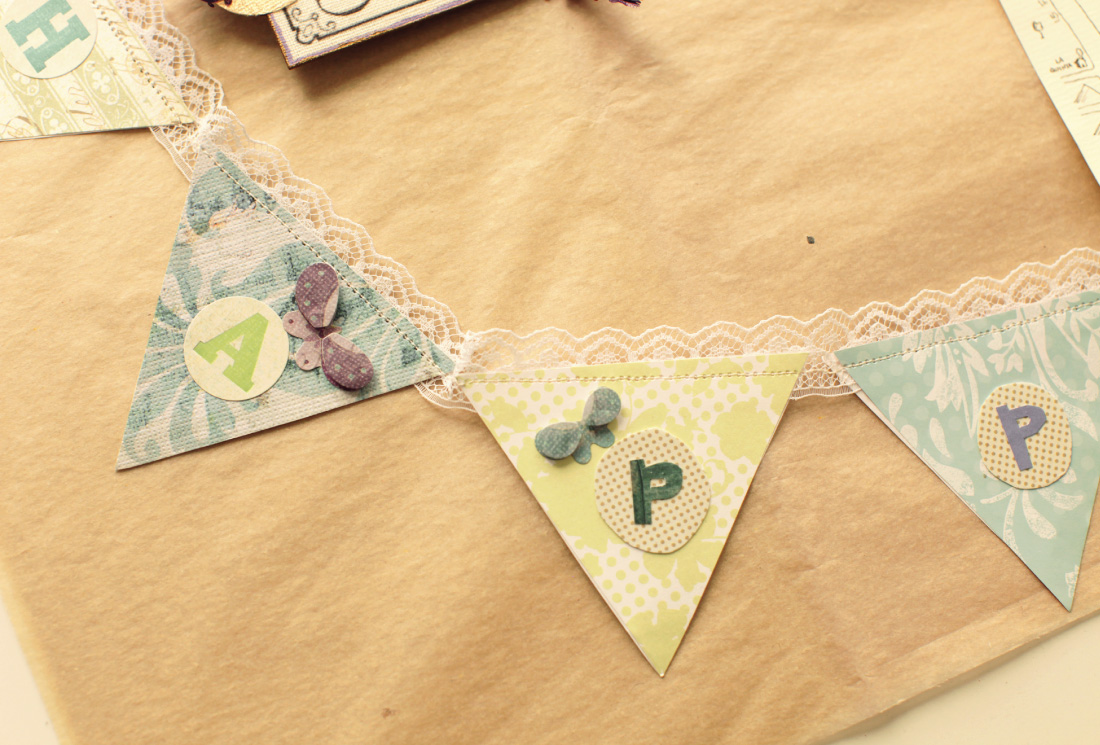 DIY bunting Happily ever after