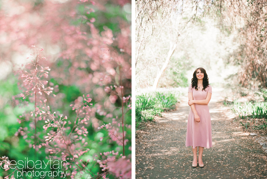 pink flowers with pink dress