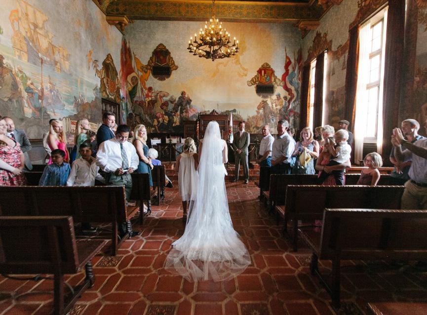 Santa Barbara Courthouse Wedding